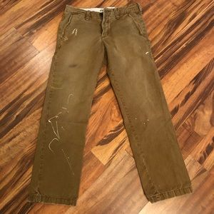 Abercrombie Distressed Khakis